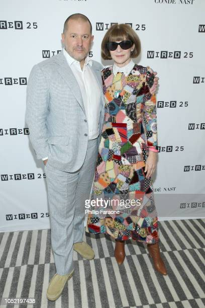 Jony Ive and Anna Wintour attend WIRED25 Summit WIRED Celebrates 25th Anniversary With Tech Icons Of The Past Future on October 15 2018 in San...