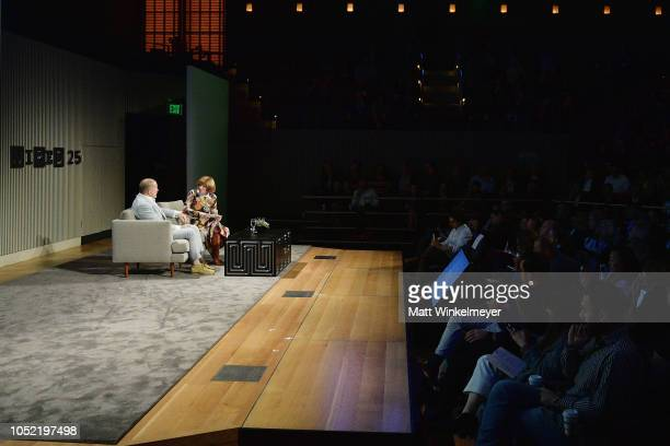 Jony Ive and Anna Wintour speak at WIRED25 Summit WIRED Celebrates 25th Anniversary With Tech Icons Of The Past Future on October 15 2018 in San...