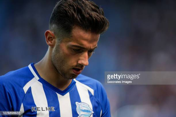 Jony Rodriguez of Deportivo Alaves CF during the La Liga Santander match between Deportivo Alaves v Espanyol at the Estadio de Mendizorroza on...