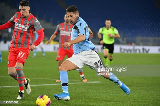 Jony Rodriguez of SS lazio in action during the Coppa Italia match between SS Lazio and US Cremonese at Olimpico Stadium on January 14 2020 in Rome...