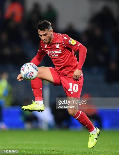 João Carvalho of Nottingham Forest controls the ball during the Sky Bet Championship match between Queens Park Rangers and Nottingham Forest at The...