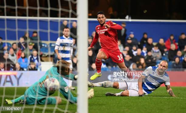 João Carvalho of Nottingham Forest scores his team's third goal during the Sky Bet Championship match between Queens Park Rangers and Nottingham...