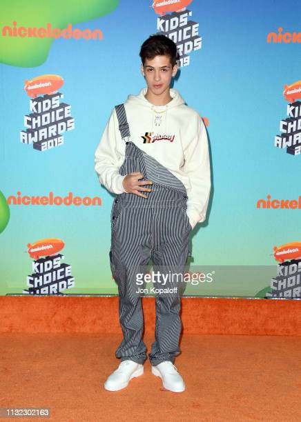 João Guilherme Ávila attends Nickelodeon's 2019 Kids' Choice Awards at Galen Center on March 23 2019 in Los Angeles California