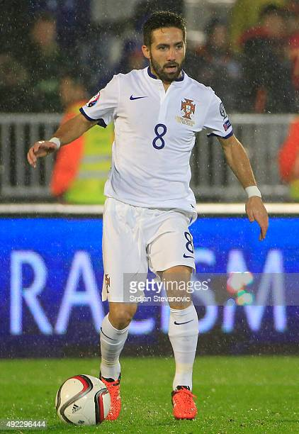 Joo Moutinho of Portugal in action during the Euro 2016 qualifying football match between Serbia and Portugal at the Stadium FC Partizan in Belgrade...