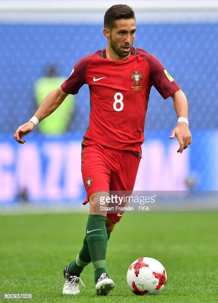 Joo Moutinho of Portugal in action during the FIFA Confederation Cup Group A match between New Zealand and Portugal at Saint Petersburg Stadium on...
