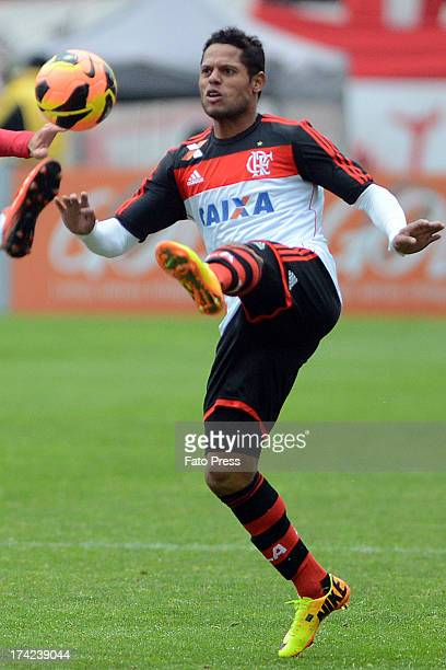 João Paulo of Flamengo runs for the ball during the match between Flamengo and Internacional for the Brazilian Serie A 2013 on July 21 2013 in...