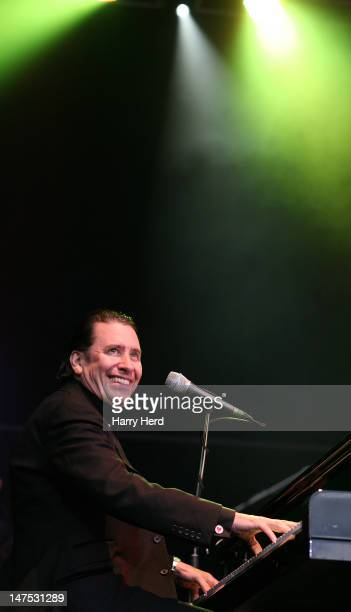 Jools Holland performs at the Cornbury Music Festival at Great Tew Estate on July 1 2012 in Oxford England
