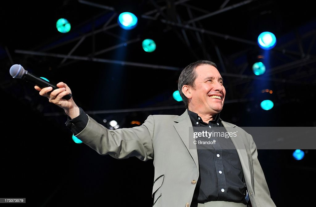Jools Holland performs on stage at Kew Gardens on July 12, 2013 in London, England.