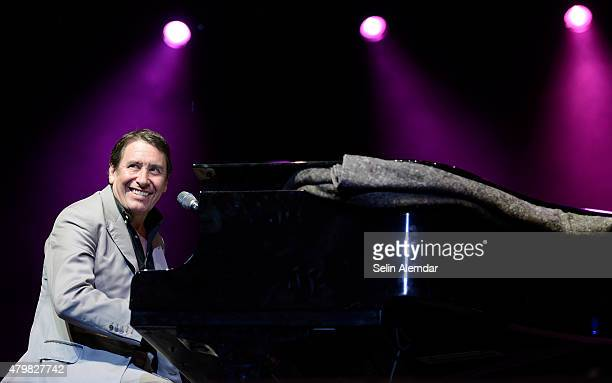 Jools Holland performs on stage at the Istanbul Jazz Festival at Cemil Topuzlu Open Air Theatre on July 7, 2015 in Istanbul, Turkey.