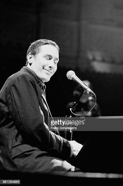 Jools Holland, piano and vocals, performs on May 12th 1996 at the Paradiso in Amsterdam, Netherlands.