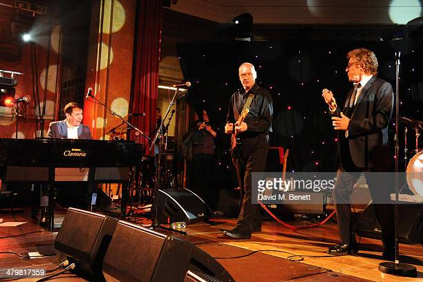 Jools Holland Wilko Johnson and Roger Daltrey attends 'An Evening With Suggs and Friends' for Pancreatic Cancer UK at the Porchester Hall on March 20...
