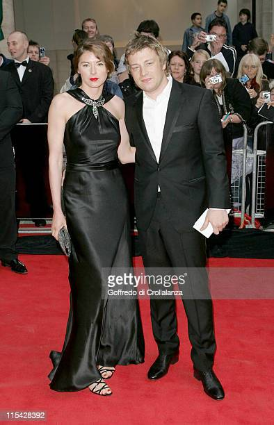 Jools Oliver and Jamie Oliver during The 2006 British Academy Television Awards - Arrivals at Grosvenor House Hotel in London, Great Britain.