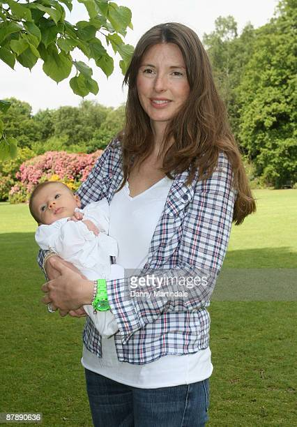 Jools Oliver with baby daughter Petal help to launch The Big Toddle 2009 at Kenwood House on May 21 2009 in London England