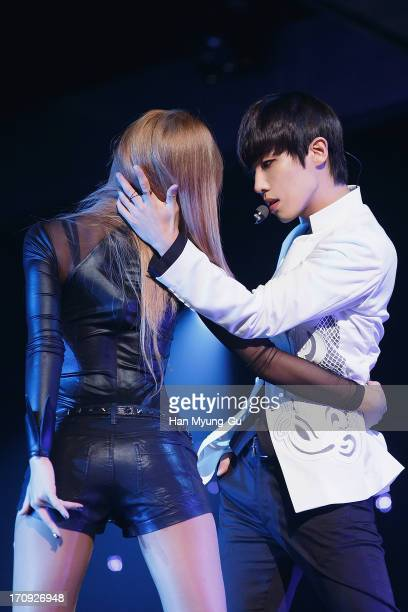 Joon of South Korean boy band MBLAQ performs onstage during the Mnet 'M CountDown' at CJ EM Center on June 20 2013 in Seoul South Korea