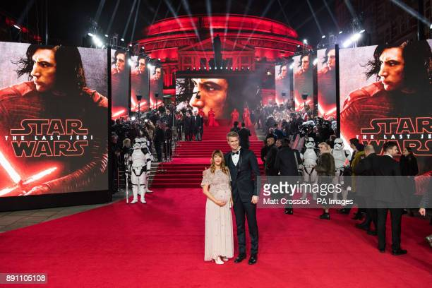 Joonas Suotamo and guest attending the european premiere of Star Wars The Last Jedi held at The Royal Albert Hall London Picture date Tuesday...