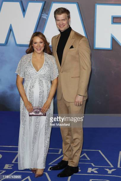 Joonas Suotamo and Milla Pohjasvaara attend Star Wars The Rise of Skywalker European Premiere at Cineworld Leicester Square on December 18 2019 in...