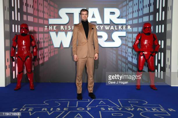 "Joonas Suotamo attends ""Star Wars: The Rise of Skywalker"" European Premiere at Cineworld Leicester Square on December 18, 2019 in London, England."