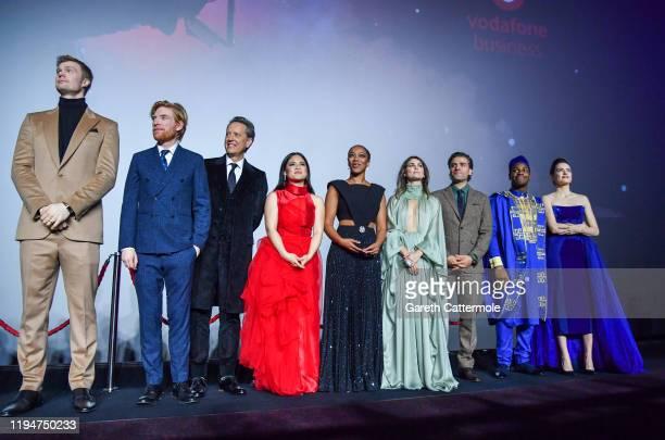 Joonas Suotamo Domhnall Gleeson Richard E Grant Kelly Marie Tran Naomi Ackie Keri Russell Oscar Isaac John Boyega and Daisy Ridley attend the...