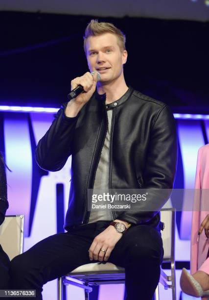 Joonas Suotamo onstage during The Rise of Skywalker panel at the Star Wars Celebration at McCormick Place Convention Center on April 12 2019 in...
