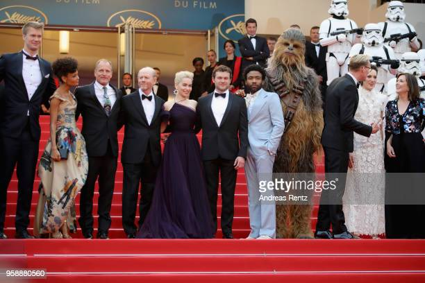 Joonas Suotamo Thandie Newton Woody Harrelson Ron Howard Emilia Clarke Alden Ehrenreich Donald Glover Chewbacca Paul Bettany Phoebe WallerBridge and...
