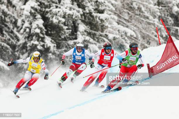 Joos Berry of Switzerland takes 1st place Jean Frederic Chapuis of France competes Arnaud Bovolenta of France competes Sandro Siebenhofer of Austria...