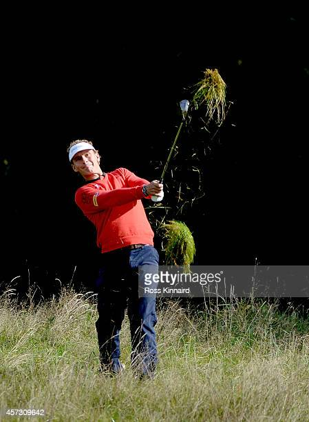 Joost Juiten of The Netherlands in action during the first round matches of the Volvo World Match Play Championship at The London Club on October 16...