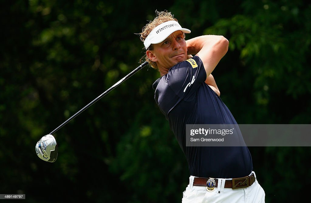 Joost Luiten of Netherlands watches his tee shot on the fifth hole during the third round of THE PLAYERS Championship on the stadium course at TPC Sawgrass on May 10, 2014 in Ponte Vedra Beach, Florida.