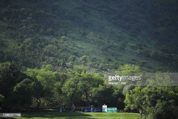 Joost Luiten of The Netherlands plays his tee shot on the 13th hole during Day One of the South African Open at Gary Player CC on December 03, 2020...