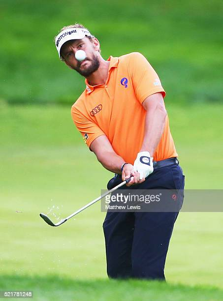 Joost Luiten of the Netherlands plays his third shot on the 2nd hole during the final round on day four of the Open de Espana at Real Club Valderrama...