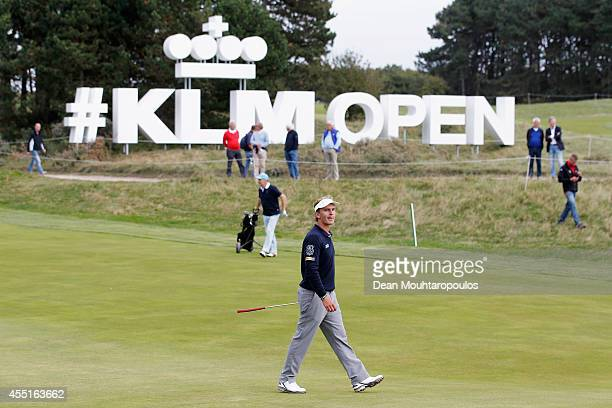 Joost Luiten of the Netherlands walks on the 9th hole during the KLM Open ProAm held at De Kennemer Golf and Country Club on September 10 2014 in...