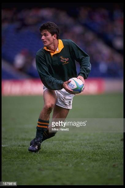 Joost Van Der Westhuizen of in action for South Africa
