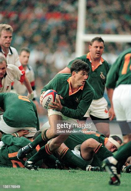 Joost Van Der Westhuizen of South Africa in action against England during an International rugby union match at Twickenham in London on 18th November...