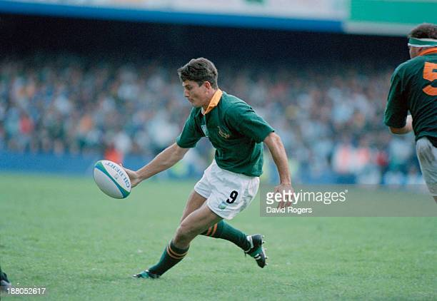 Joost van der Westhuizen of South Africa in action during a pool stage match against Australia in the Rugby World Cup at Newlands Cape Town South...