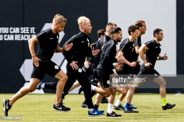 Joost van Zuilen , Kevin Blom during the Training KNVB referees on July 1, 2020 in Zeist Netherlands