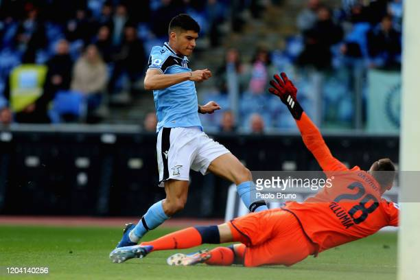 Joquin Correa of SS Lazio in action during the Serie A match between SS Lazio and Bologna FC at Stadio Olimpico on February 29 2020 in Rome Italy