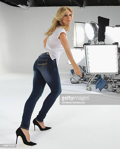 Jordache Jeans Commercial Featuring Heidi Klum Behind The Scenes at Highline Studios on June 16 2012 in New York City