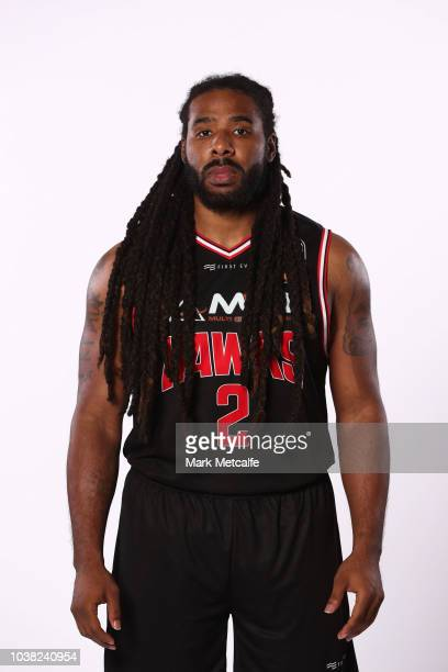 Jordair Jett of Illawarra Hawks poses during the 2018/19 NBL media day at Bendigo Stadium on September 21 2018 in Bendigo Australia