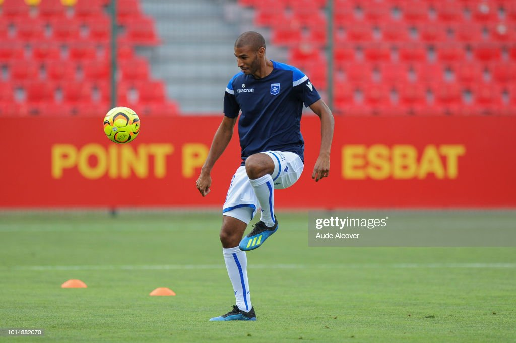 Jordan Adeoti of Auxerre during the French Ligue 2 match between Orleans and Auxerre on August 10, 2018 in Orleans, France.
