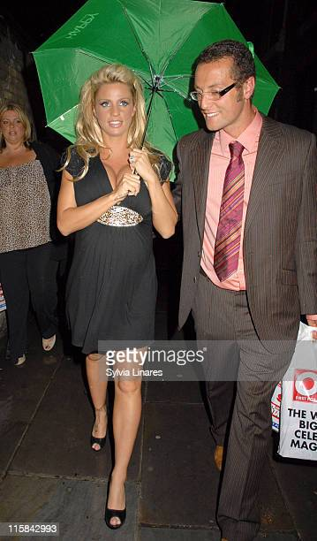 Jordan AKA Katie Price and guest during ROKing All Over The World OK Party at Old Billingsgate Market in London Great Britain