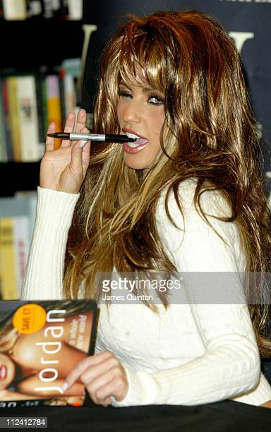 Jordan aka Katie Price during Katie Price Signs Her Book 'A Whole New World' at Waterstone's in London February 1 2006 at Waterstone's in London...