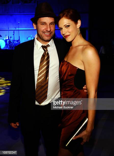 Jordan Alan and actress Amanda Righetti attend the Second Annual Art of Elysium Genesis Event at Milk Studios on August 28 2010 in Hollywood...