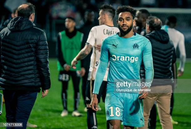 Jordan Amavi during the Ligue 1 match between Angers SCO and Olympique de Marseille at Stade Raymond Kopa on December 22 2018 in Angers France