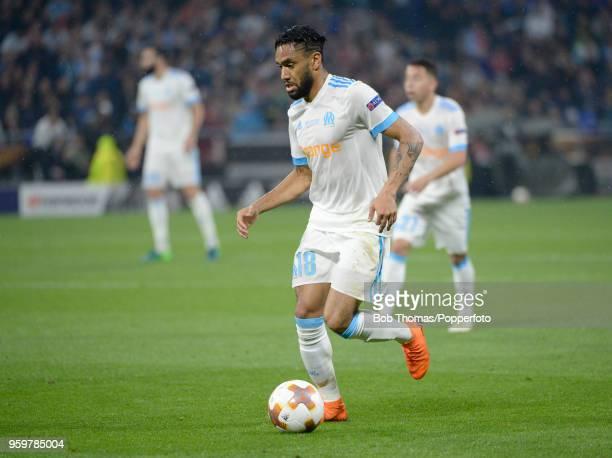 Jordan Amavi in action for Marseille during the UEFA Europa League Final between Olympique de Marseille and Club Atletico de Madrid at Stade de Lyon...