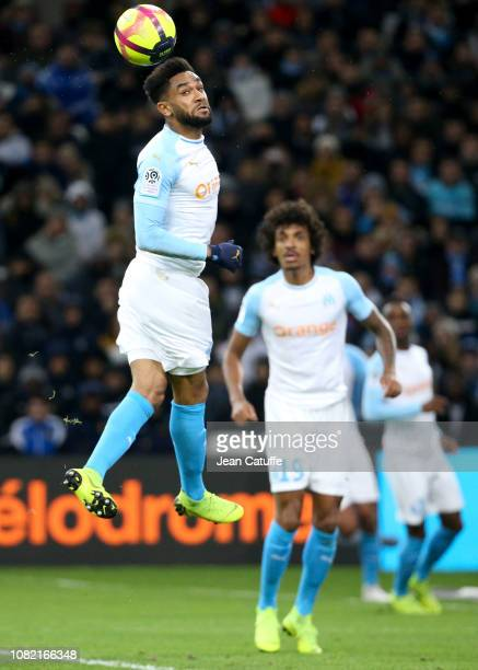 Jordan Amavi Luiz Gustavo of Marseille during the french Ligue 1 match between Olympique de Marseille and AS Monaco at Stade Velodrome on January 13...