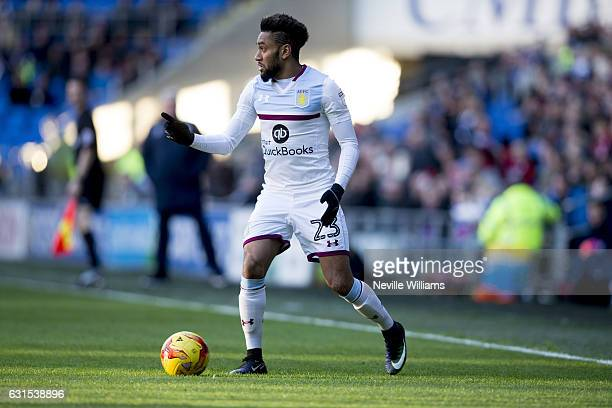 Jordan Amavi of Aston Villa during the Sky Bet Championship match between Cardiff City and Aston Villa at the Cardiff City Stadium on January 02,...