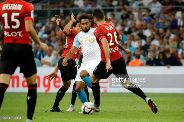 Jordan Amavi of Marseille during Ligue 1 match between Marseille and Rennes on August 26 2018 in Marseille France