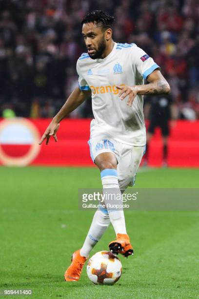 Jordan Amavi of Marseille during the Europa League Final match between Marseille and Atletico Madrid at Groupama Stadium on May 16 2018 in Lyon France