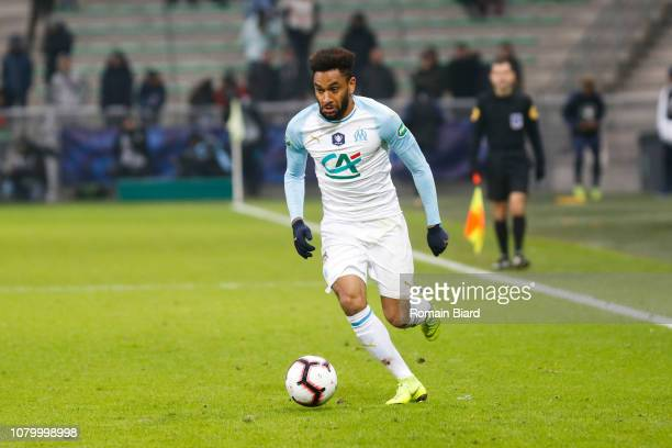 Jordan Amavi of Marseille during the French Cup match between Andrezieux and Marseille at Stade GeoffroyGuichard on January 6 2019 in SaintEtienne...