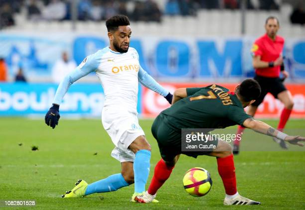 Jordan Amavi of Marseille during the french Ligue 1 match between Olympique de Marseille and AS Monaco at Stade Velodrome on January 13 2019 in...