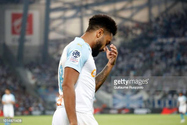 Jordan Amavi of Marseille during the French Ligue 1 match between Marseille and Toulouse at Stade Velodrome on August 10 2018 in Marseille France